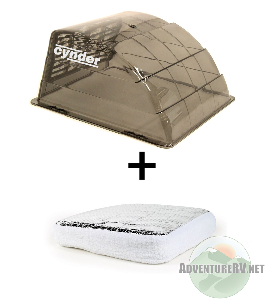 Cynder Universal Roof Vent Cover Shield  with Vent Insulator RV Camper